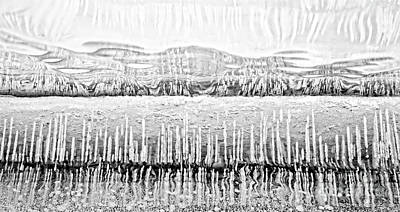 Photograph - Lake Ice Texture Mono by Charline Xia