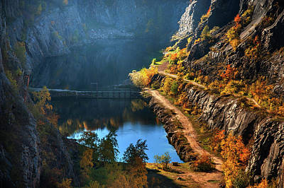 Photograph - Lake In Canyon. Velka America by Jenny Rainbow