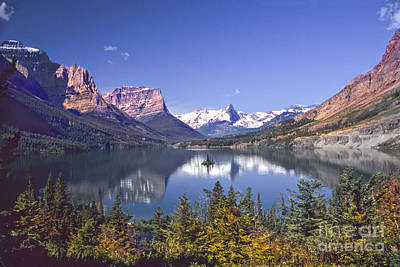 St. Timothy Photograph - Lake In Glacier Park by Timothy Flanigan