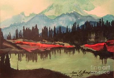 Painting - Lake In Paradise by Terri Thompson