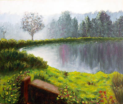Lake In The Park Original by Uma Krishnamoorthy