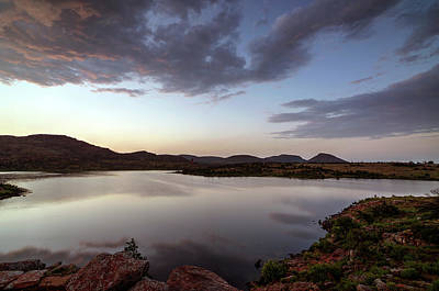 Lake In The Wichita Mountains  Art Print