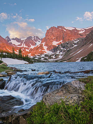 Photograph - Lake Isabelle Sunrise Vertical by Aaron Spong