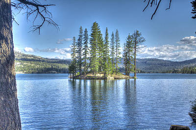 Wilderness Photograph - Lake Island by SC Heffner