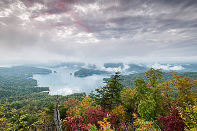 Beauty Mark Photograph - Lake Jocassee Clearing Storm Sunset by Mark VanDyke
