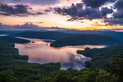 Photograph - Lake Jocassee Sunset by Serge Skiba