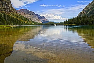 Photograph - Lake Josephine Many Glacier Montana by Waterdancer