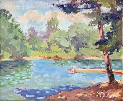 Colorful Painting - Lake Julian Morning Light by Lisa Blackshear