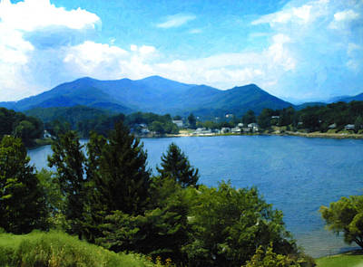 Digital Art - Lake Junaluska Nc by Chris Flees