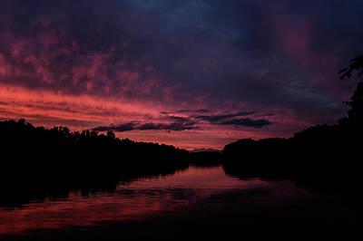 Lake Keowee Photograph - Lake Keowee Sunset by Thomas Morris