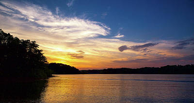 Sunset Photograph - Lake Keowee Sunset by Todd Wise