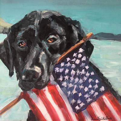 Painting - Beach Lab by Susan Elizabeth Jones