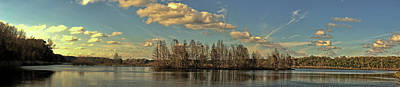 Lake Lafayette In Hdr Panoramic Art Print by Frank Feliciano