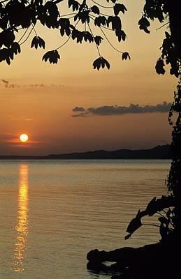 Lake Lago And Sunset Art Print by Don Kreuter
