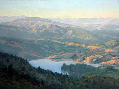 Northern California Painting - Lake Lagunitas by Armand Cabrera