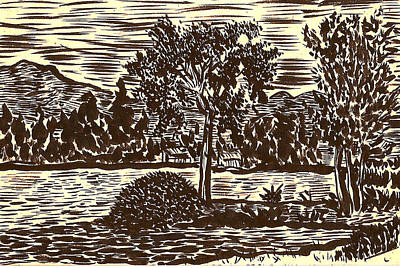 Lake Leek Art Print