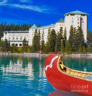 Photograph - Lake Life Lake Louise by Susan Garren