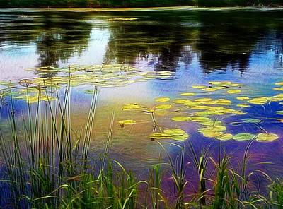 Lake Lilly Monet Style Art Print by Louise Lavallee