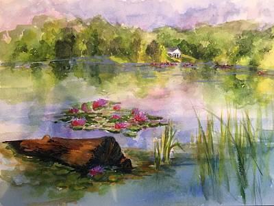 Lake Logan, Lily Pads Art Print