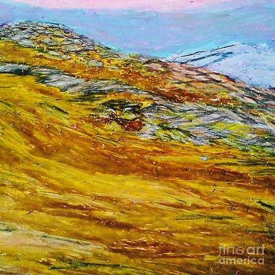 Mountain Sunset Drawing - Lake Los Angeles Evening Somg by Ishy Christine MudiArt Gallery