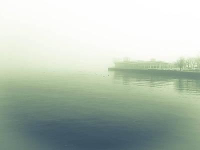 Photograph - Lake Lost In Fog by Barbara Budish