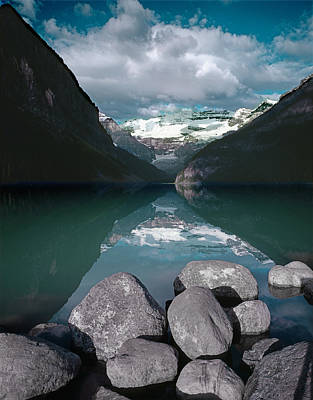 Photograph - 1m3406-lake Louise And Mt. Victoria  by Ed  Cooper Photography