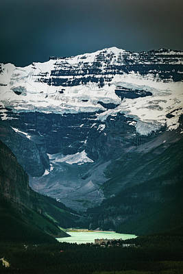 Photograph - Lake Louise At Distance by William Lee