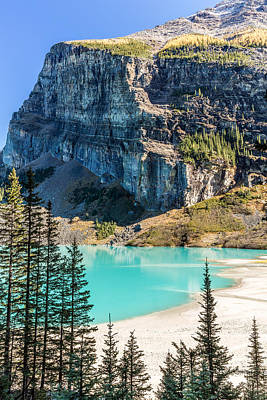 Photograph - Lake Louise Beach by Pierre Leclerc Photography