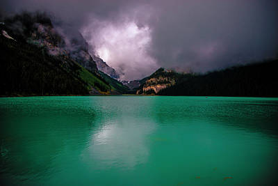 Photograph - Lake Louise Before Storm by Patrick Boening