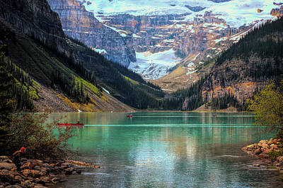 Photograph - Lake Louise - Canadian Rockies  by Maria Angelica Maira