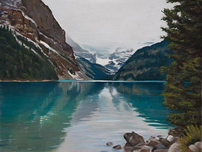 Pastel - Lake Louise by Christopher Reid
