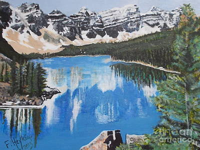 Painting - Lake Louise  by Francine Heykoop