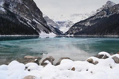 Photograph - Lake Louise Ice Landscape by Andrea Hazel Ihlefeld