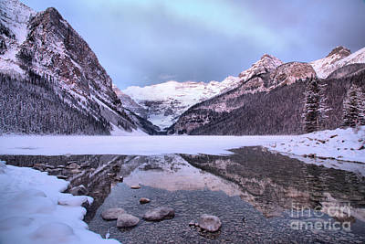 Photograph - Lake Louise Icy Reflections by Adam Jewell