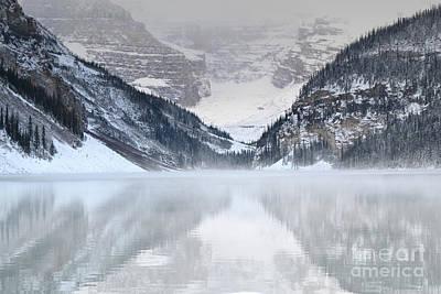 Photograph - Lake Louise Mist Mountains by Andrea Hazel Ihlefeld