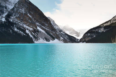 Photograph - Lake Louise Mountains Landscape by Andrea Hazel Ihlefeld