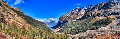 Photograph - Lake Louise Plane Of Six Glaciers by Adam Jewell