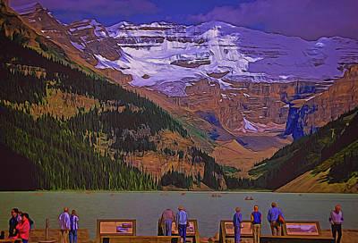 Digital Art - Lake Louise by Richard Farrington
