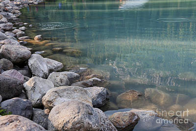 Photograph - Lake Louise Rocks And Water by Carol Groenen