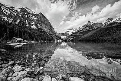 Lake Louise Bw Art Print