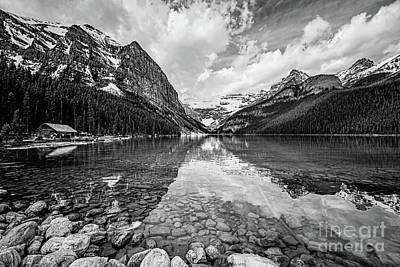 Photograph - Lake Louise Bw by Scott Pellegrin