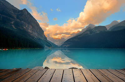 Photograph - Lake Louise by Songquan Deng