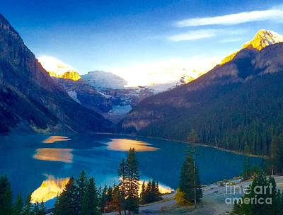 American Milestones - Lake Louise Sunrise by Susan Garren