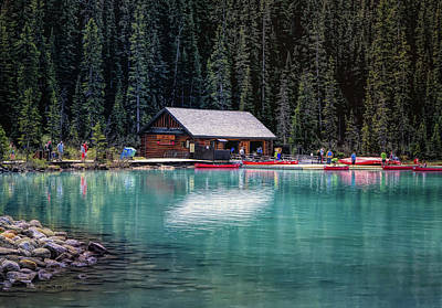Photograph - Lake Louise Turquoise Waters by Maria Angelica Maira