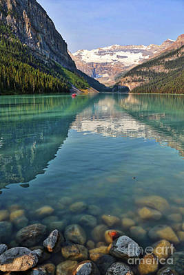 Photograph - Lake Louise With Rocks by Carol Groenen