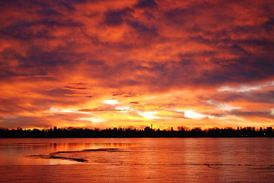Lake Loveland Sunrise Art Print by Billie Colson