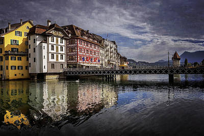 Charming Town Photograph - Lake Lucerne  by Carol Japp