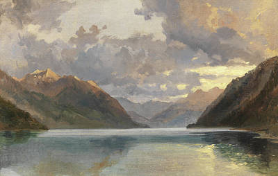 Lake Lucerne Art Print by James Duffield Harding