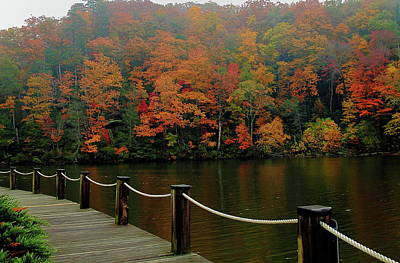 Photograph - Lake Lure Fall Colors by Allen Nice-Webb