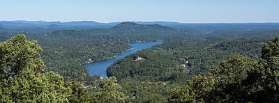 Lake Lure North Carolina Panoramic Art Print